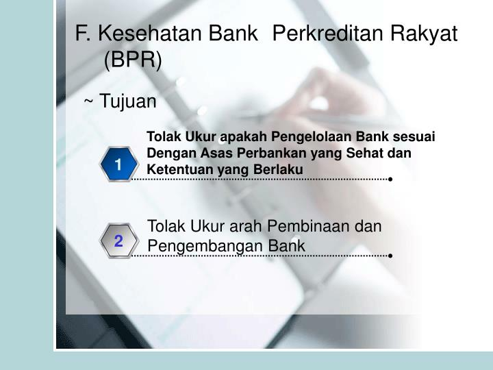 Tolak Ukur apakah Pengelolaan Bank sesuai