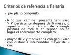 criterios de referencia a fisiatr a