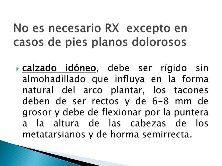 No es necesario RX