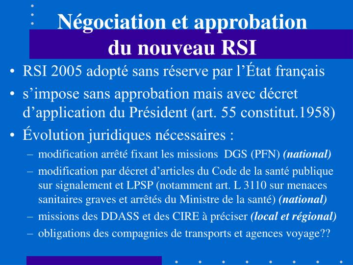 Négociation et approbation