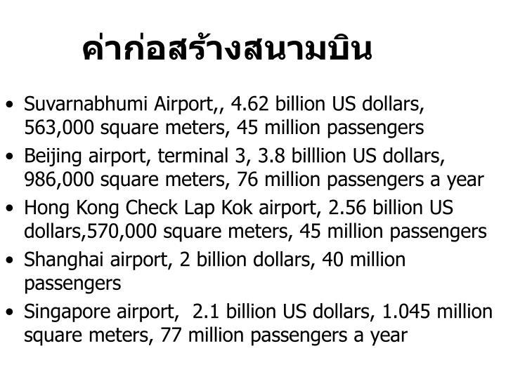 ค่าก่อสร้างสนามบิน