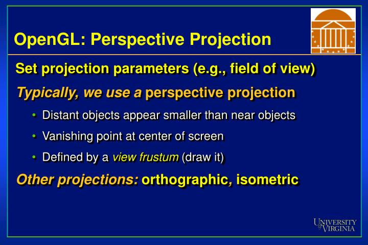 OpenGL: Perspective Projection