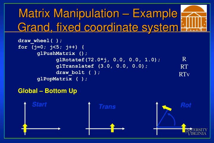 Matrix Manipulation – Example