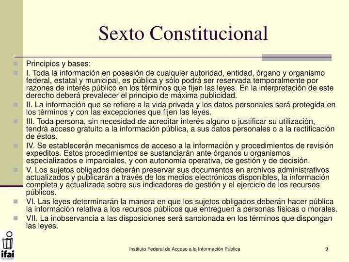 Sexto Constitucional