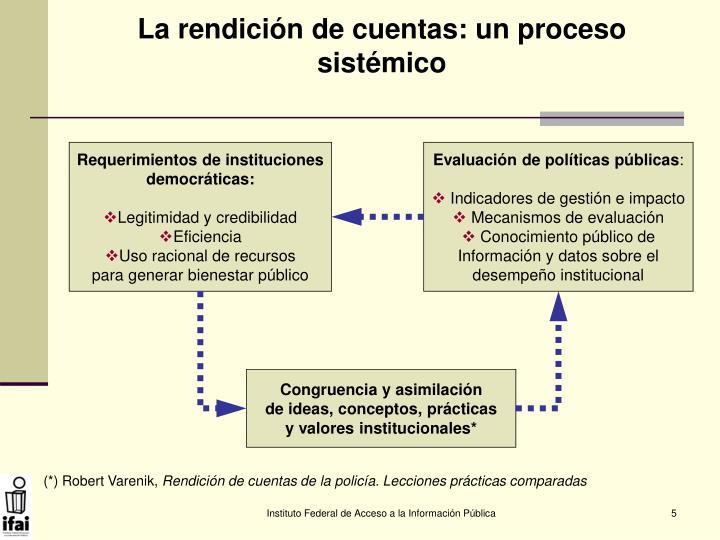 La rendición de cuentas: un proceso