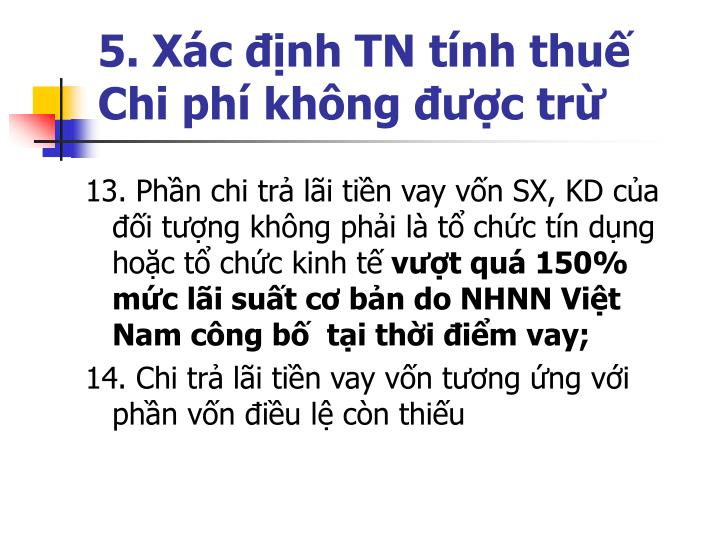 5. Xc nh TN tnh thu