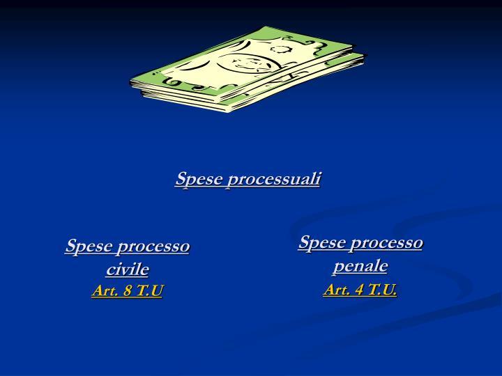 Spese processuali