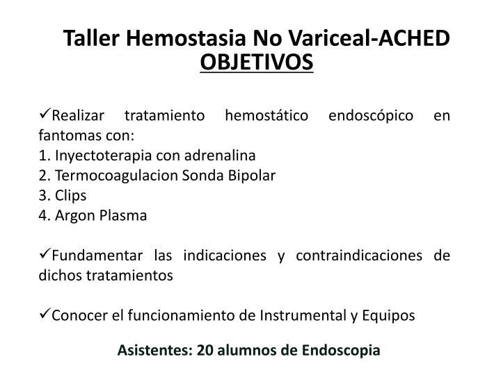 Taller Hemostasia No Variceal-ACHED
