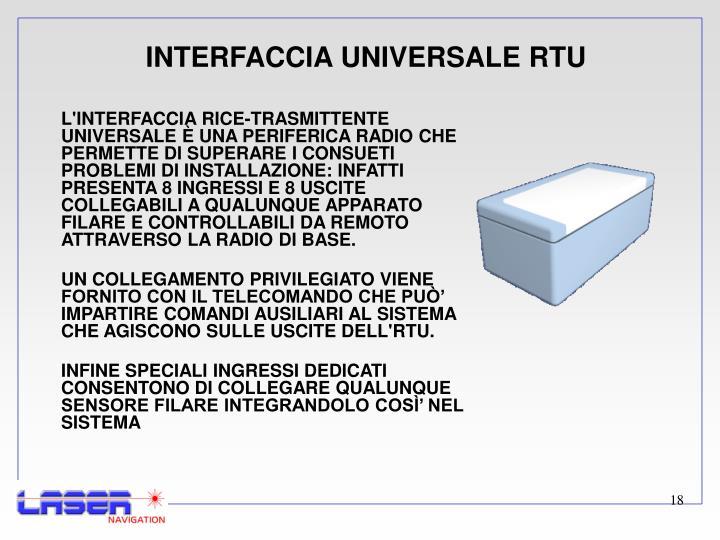 INTERFACCIA UNIVERSALE RTU