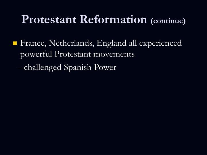 4 Protestant Reformation & America