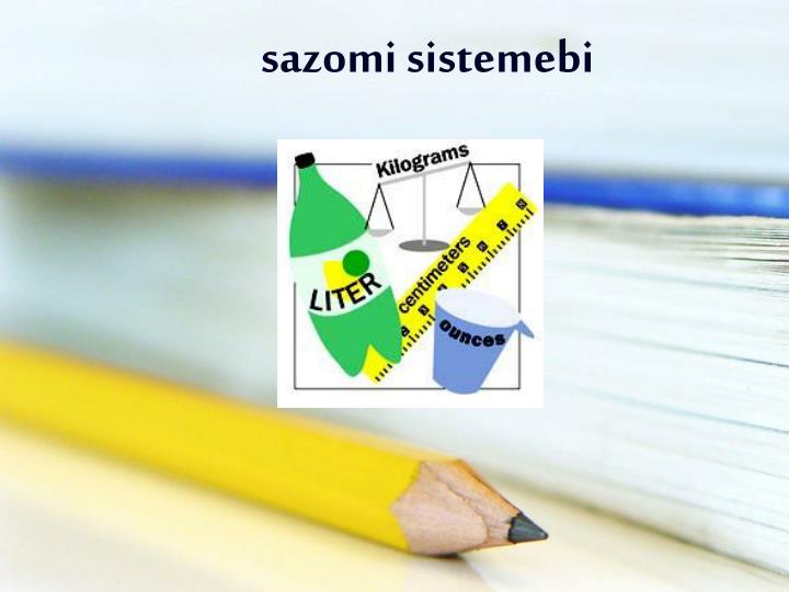 sazomi sistemebi