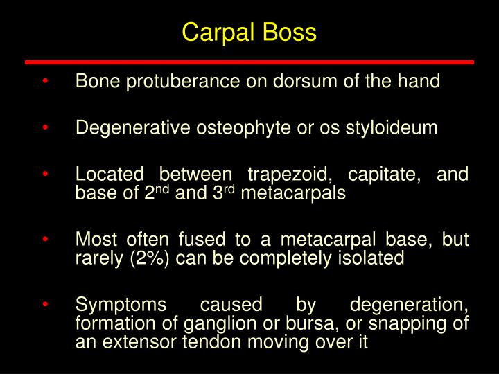 Carpal Boss