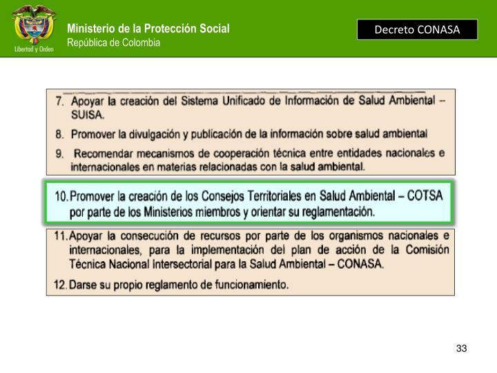 Decreto CONASA