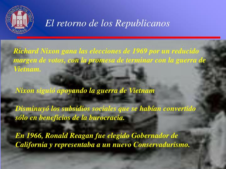 El retorno de los Republicanos