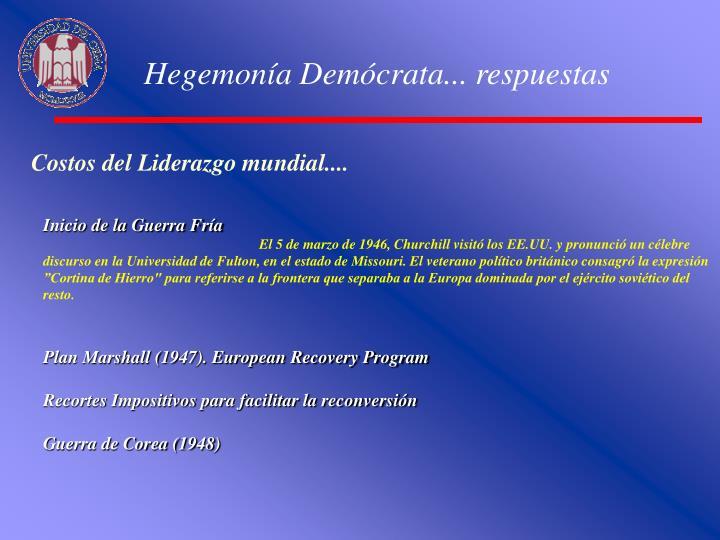 Hegemonía Demócrata... respuestas