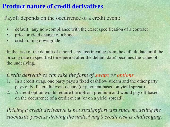 Product nature of credit derivatives