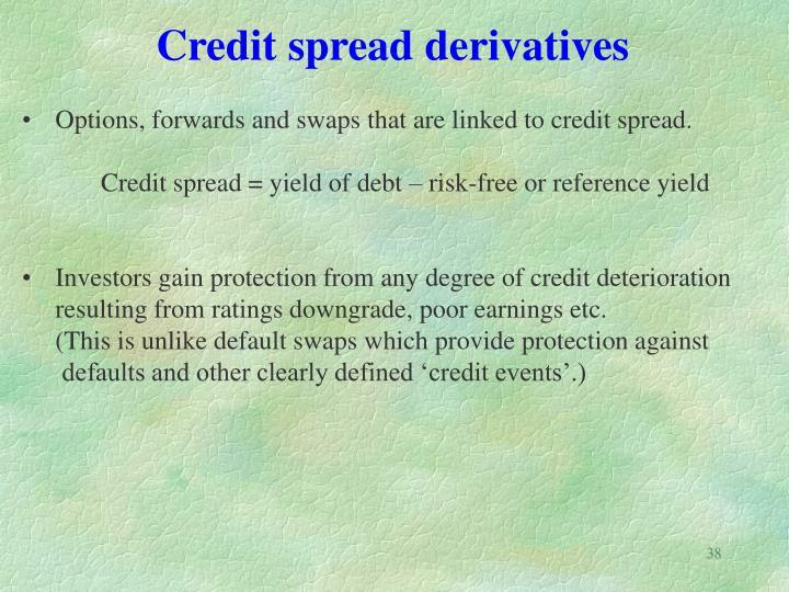 Credit spread derivatives