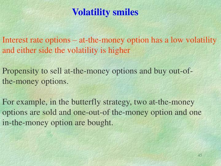 Volatility smiles