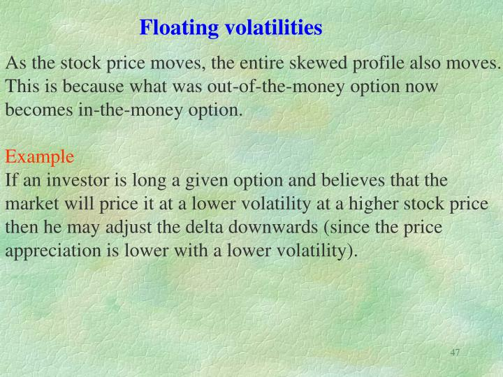 Floating volatilities