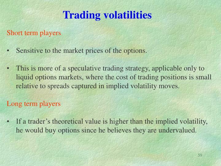 Trading volatilities