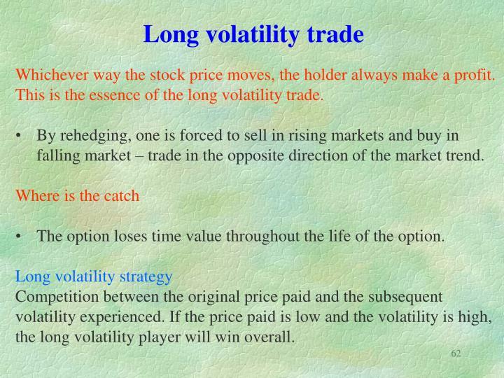 Long volatility trade