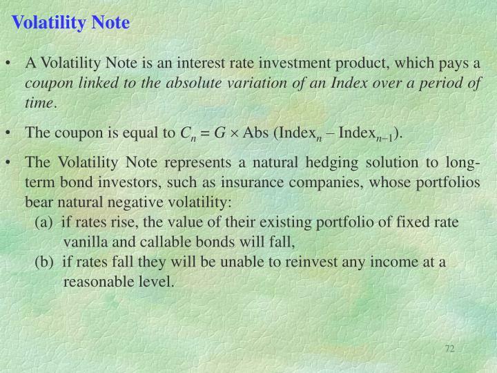 Volatility Note