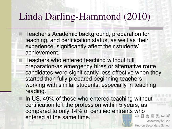 Linda Darling-Hammond (2010)