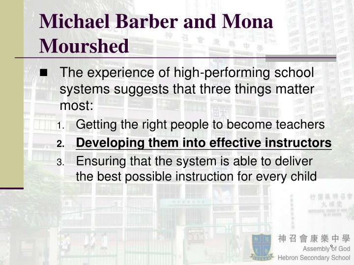 Michael Barber and Mona Mourshed