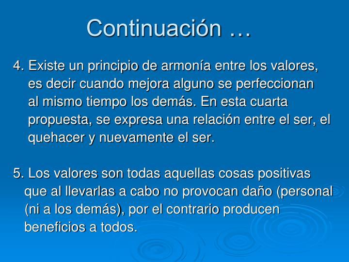 Continuación …