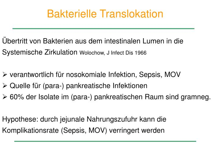 Bakterielle Translokation