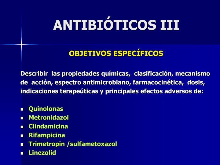 ANTIBIÓTICOS III