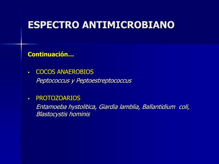 ESPECTRO ANTIMICROBIANO