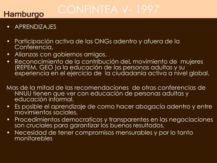 CONFINTEA V- 1997