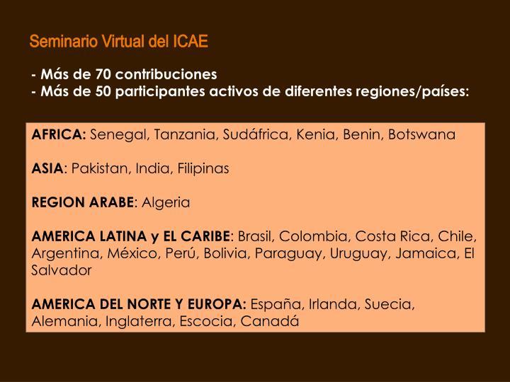 Seminario Virtual del ICAE