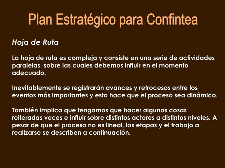 Plan Estratégico para Confintea