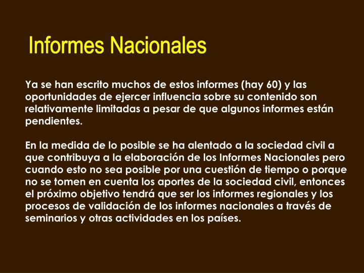 Informes Nacionales
