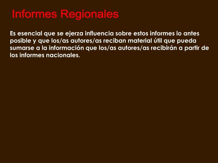 Informes Regionales