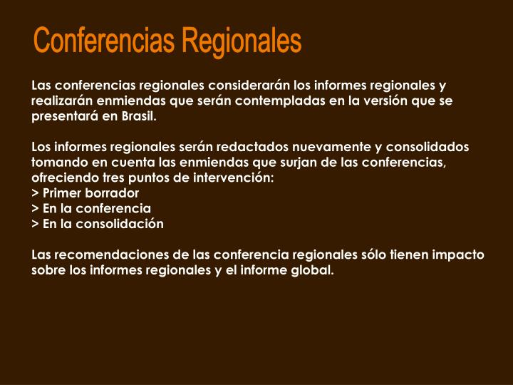 Conferencias Regionales