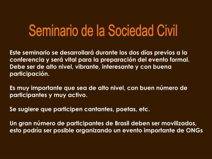 Seminario de la Sociedad Civil