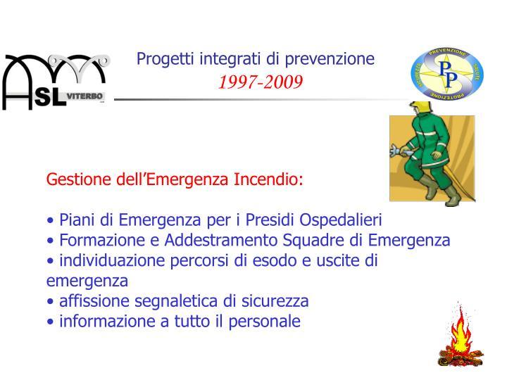Progetti integrati di prevenzione