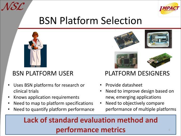 BSN Platform Selection