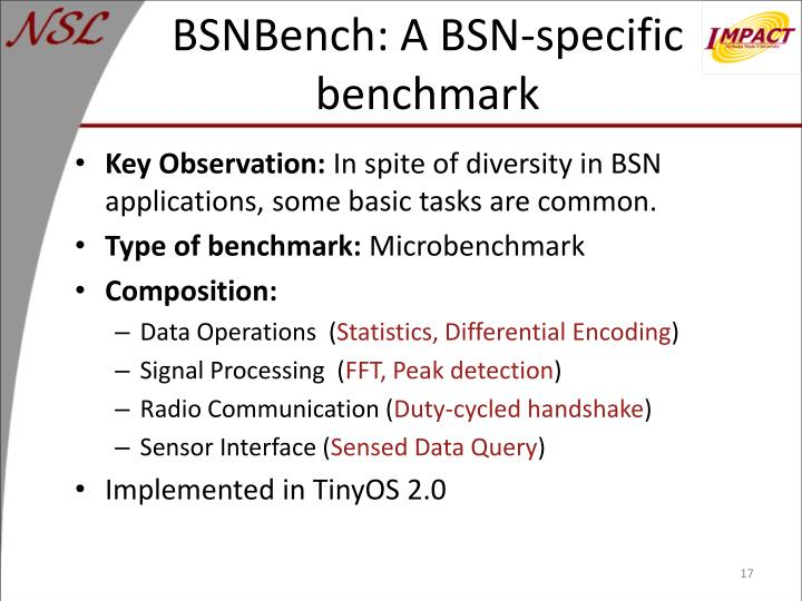 BSNBench: A BSN-specific benchmark
