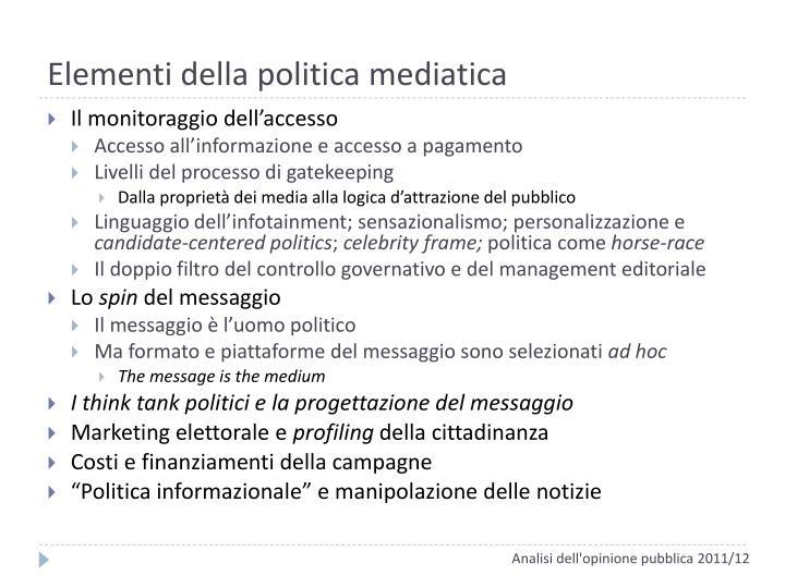 Elementi della politica mediatica