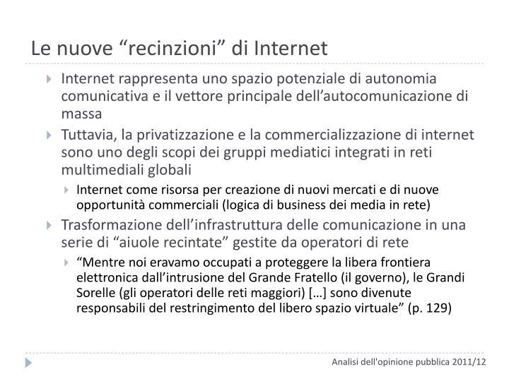 """Le nuove """"recinzioni"""" di Internet"""