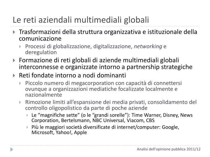 Le reti aziendali multimediali globali