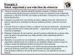 principio 3 salud seguridad y una vida libre de violencia