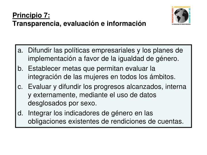 Principio 7: