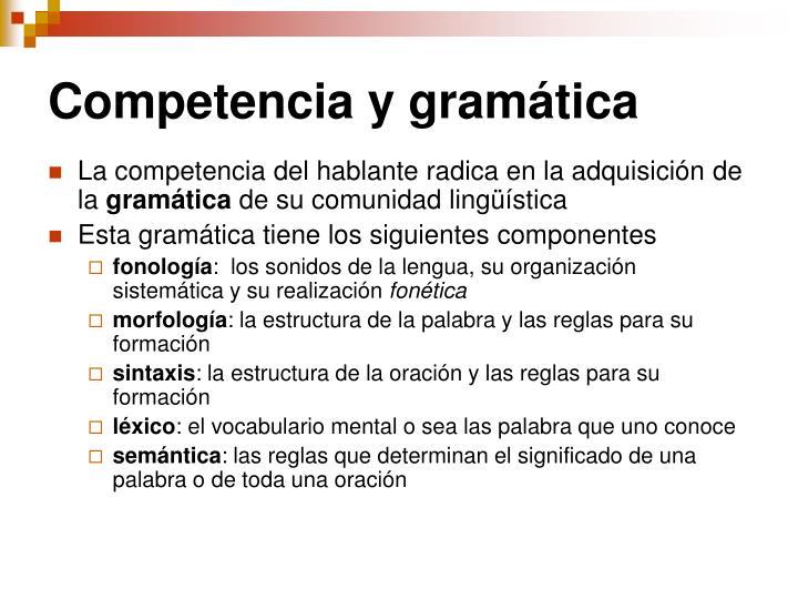 Competencia y gramática