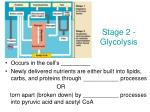 stage 2 glycolysis