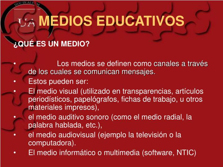 MEDIOS EDUCATIVOS
